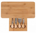 CHEESE CUTTING AND SERVING BOARD WITH KINGHOFF KH-1567 UTENSILS