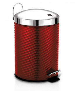 STEEL TRASH CAN 12L BERLINGER HAUS BH-6423 BURGUNDY