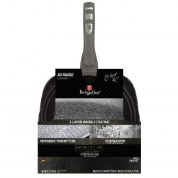 SET OF 3 GRANITE PANS BERLINGERHAUS CARBON METALLIC LINE BH-1274