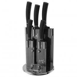 BERLINGER HAUS BH-2382 Black Silver GRANITE KNIFE SET
