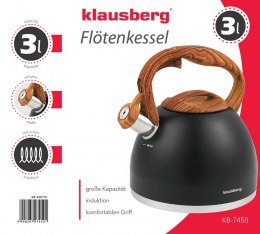 KETTLE WITH WHISTLE KLAUSBERG 3L KB-7450