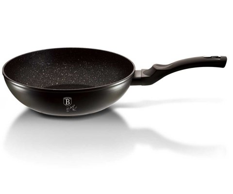 GRANITE WOK 28cm BERLINGERHAUS BLACK SILVER BH-1848