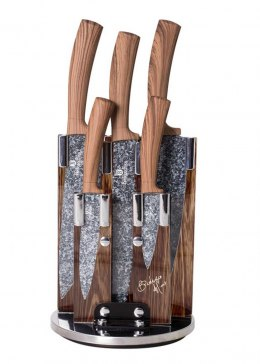 SET OF 5 KNIVES IN BERLINGER HAUS BH-2160 STAND