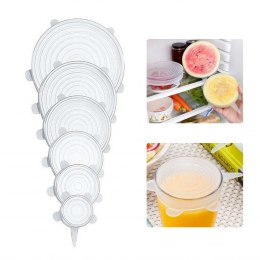 SET of 6 pcs. UNIVERSAL SILICONE LIDS