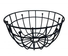 STEEL BASKET FOR FRUIT 28cm black 1705