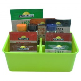 Organizer container for spices cosmetics green