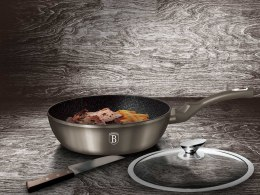 GRANITE FRYING PAN 24CM BERLINGER HAUS METALLIC LINE CARBON BH-1237
