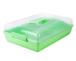 RECTANGULAR CAKE CONTAINER 42x29cm WITH TRAY