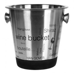 BUCKET FOR COOLING CHAMPAGNE VODKA WITH PRINT