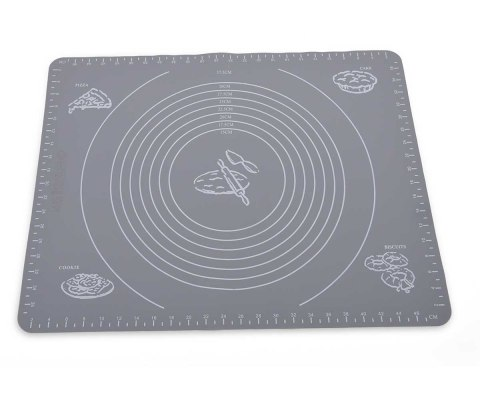 WOODWORK SILICONE MAT FOR DOUGH 50x40 grey